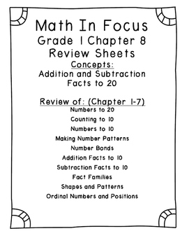 Math in Focus Grade 1 Chapter 8 Addition and Subtraction F