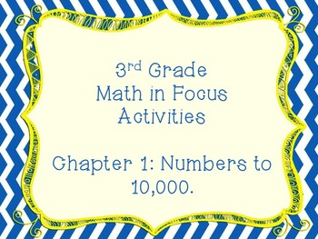 Math in Focus Grade 3 Chapter 1 Activities (Singapore Math)