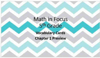 Math in Focus: Grade 5: Vocabulary Cards