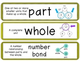 Math in Focus Vocabulary cards 1st grade