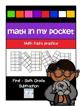 Math in My Pocket ~ Subtraction First -Sixth Grade