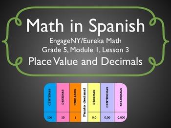 Math in Spanish: Grade 5 Module 1 Lesson 3