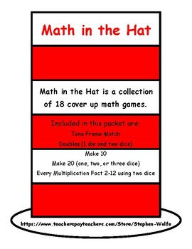 Math in the Hat - Cover UP Math Games
