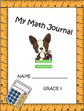 Math journal 3rd grade  CCSS aligned extended responses Part I