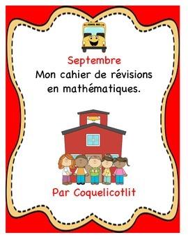 Math: mon cahier de révisions- septembre