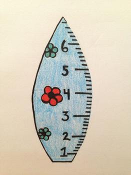 Math surfboard ruler
