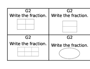 Math task Cards- third grade- 3g2 Common Core