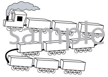 Math train game using the bundling or MAB concept