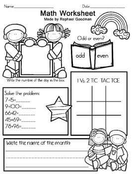 Math worksheet - Free item from my 6 year old.