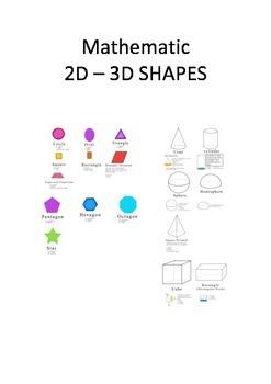 Mathematic 2D – 3D SHAPES