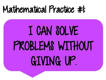 Mathematical Practice I Can Statements