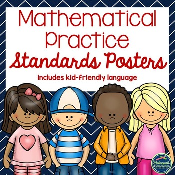 Mathematical Practice Standards Posters w/ I Can statement