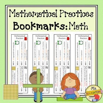 Mathematical Practices Bookmark - Math