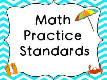 Mathematical Practices Posters Beach Theme