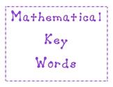 Mathematical Word Problem Key Words
