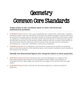 Mathematics Common Core Standards for the 5th Grade