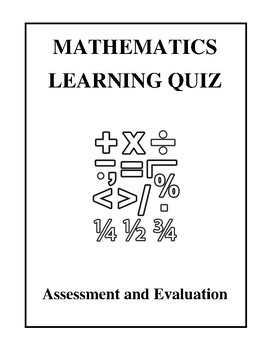 Mathematics Learning Quiz - Assessment and Evaluation
