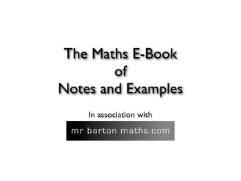 Mathematics Notes and Examples ebook