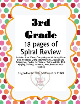 Mathematics Spiral Review- 3rd grade