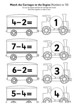 Mathematics Subtraction Train Activity