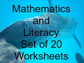 Mathematics and Literacy  30 Worksheets