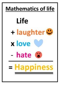 Mathematics of Life Classroom Poster