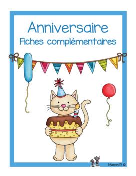 Mathématique et français sur le thème de l'anniversaire (f