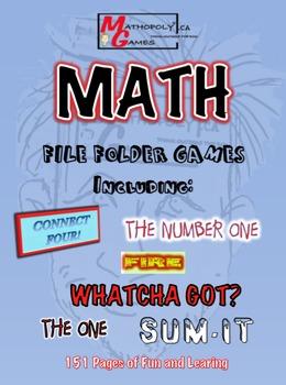 Mathopoly® Math File Folder Games - SIX Awesome Games usin
