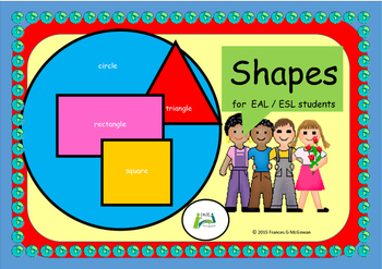 Maths 2D shapes for young  EAL /ESL students