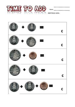 Maths - Adding NZ Coins