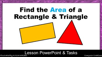 Maths Area of Rectangle and Triangle