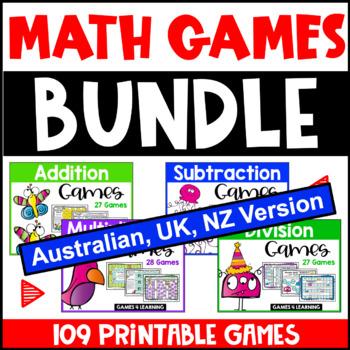 Maths Board Games [Australian UK NZ Edition]