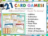 Maths Card Games
