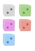 Maths Dice Clip Art - Colorful Numbers 1-6 with Full Comme