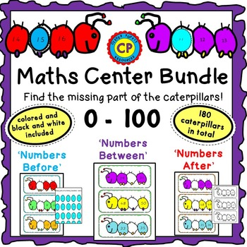 Maths Center - Numbers Before, After and Between Bundle