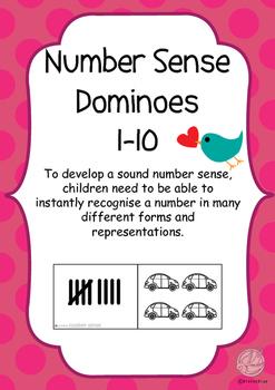 Maths Games: Number Sense Dominoes 1-10