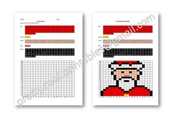 Maths Hidden Picture Co-ordinates Activity Christmas Santa