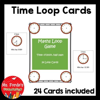 Maths Loop Cards Time (o'clock, half past)