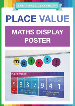 Place Value Maths Display Poster - For numbers with up to