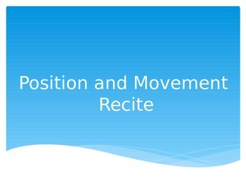 Maths Powerpoint Warmup- Position & Movement Words- QLD fo