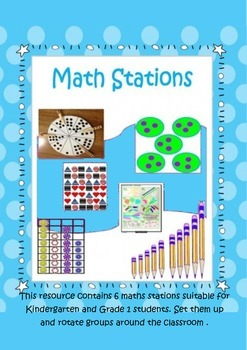 Maths Stations for Kindergarten