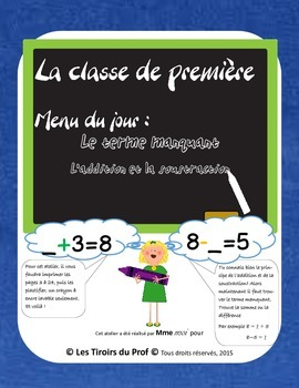 Maths Missing Number Addition Terme manquant