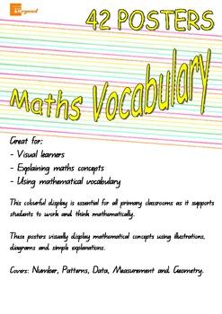 Maths Vocabulary Posters - Number Patterns Data Measuremen