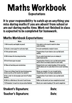 Maths Workbook - Marking and Expectation File