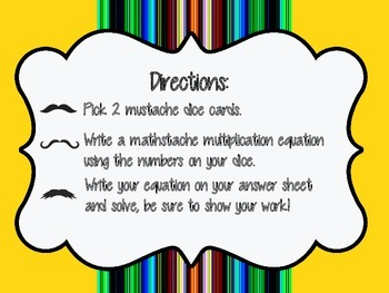 Mathstache Multiplication Game/Center
