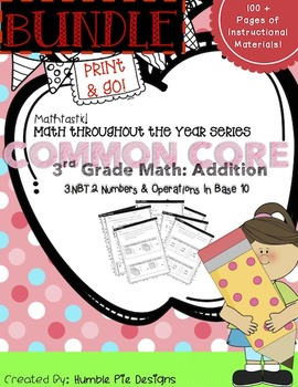 Mathtastic Addition Bundle: Interactive notebook, workshee