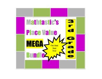 Mathtastic's 3rd Grade Place Value Games MEGA Bundle for C