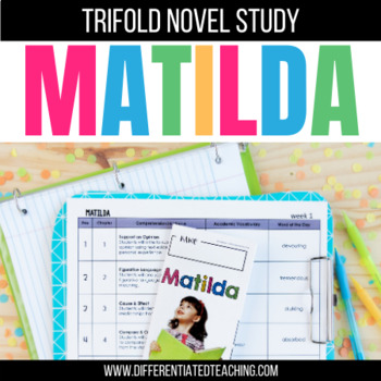 Matilda Foldable Novel Study Unit