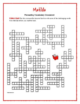 Matilda: 50-word Prereading Vocabulary Crossword—Use with