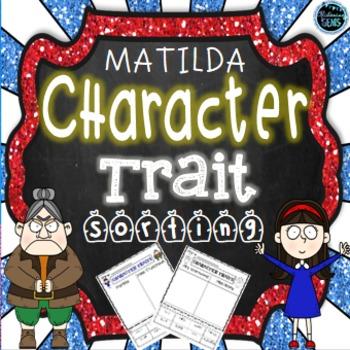 Matilda - Character Traits Sorting, No Prep Printables